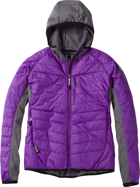 DTE women's hybrid jacket, imperial purple