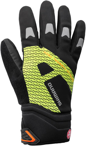 Shimano WINDSTOPPER® Thermal Reflective glove, black / hi-viz