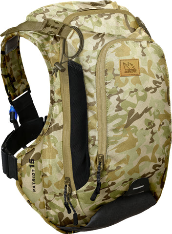 Patriot 15 Pack 12L Cargo Back Protector With 3.0L Elite Bladder Camo