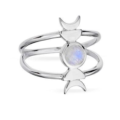 Transcendence Moonstone Ring - Sterling Silver