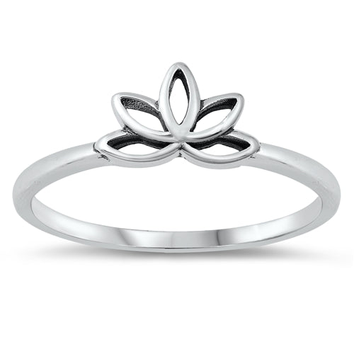 Little Lotus Ring - Sterling Silver