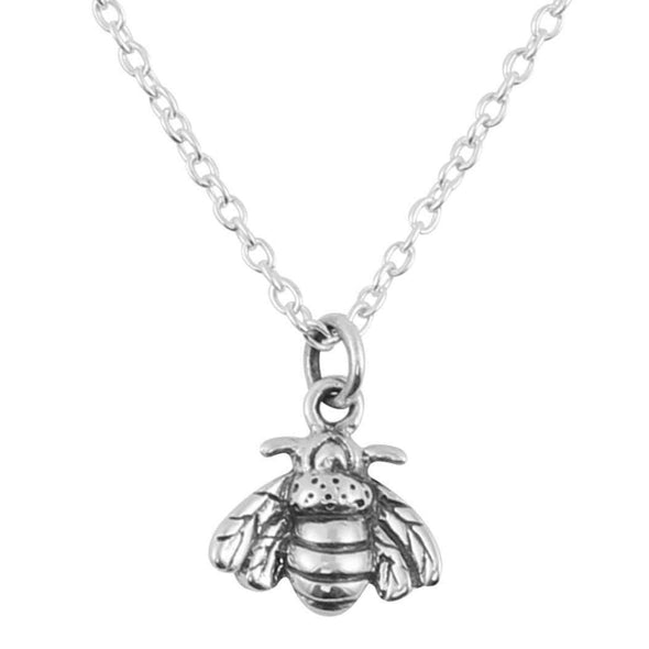Bee Pollination Necklace - Sterling Silver