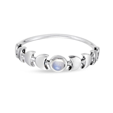 Illume Rainbow Moonstone Ring - Sterling Silver