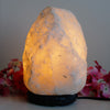 White Himalayan Salt Lamp - 2-3kg Natural Shaped - Marble Base