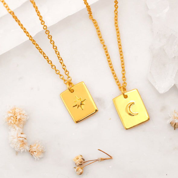 Celestial Medallion Necklace - 18K Gold Vermeil