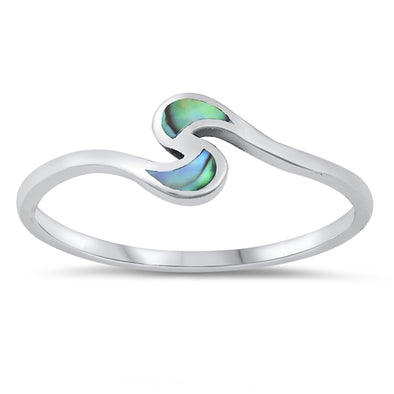 Abalone Moons Ring - Sterling Silver
