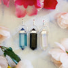 Aqua Aura Quartz, Black Tourmaline and Angel Aura Quartz - Pendant Gift Set #6