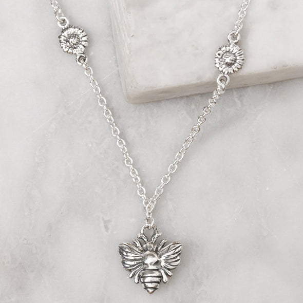 Queen Bee Necklace - Sterling Silver