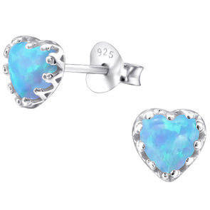 Blue Summer Love Earrings - Sterling Silver