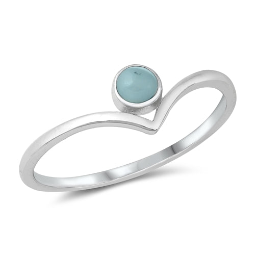 Larimar Ring - Sterling Silver