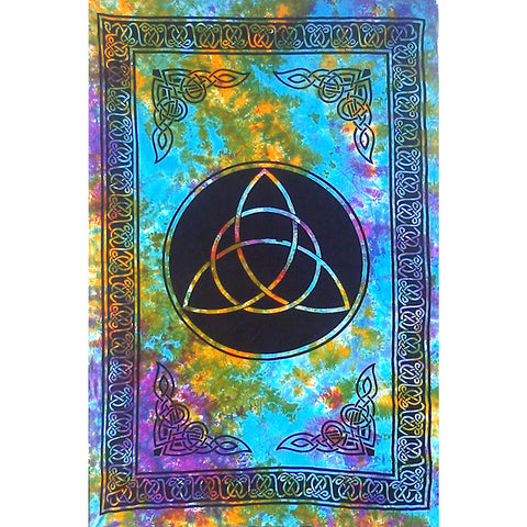 Triquetra Tie Dye Tapestry