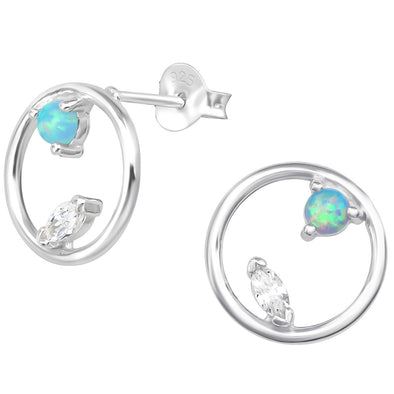 Leo Earrings - Sterling Silver