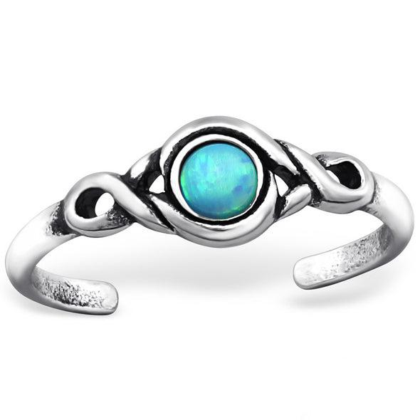 Illusion Midi Ring (Sea) - Sterling Silver