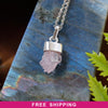 Rose Quartz Cluster Necklace - Piece #4 (Sterling Silver Pendant)