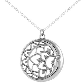 sterling silver moon necklace 925