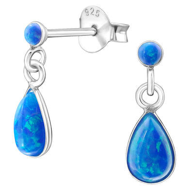Blue Leona Earrings - Sterling Silver