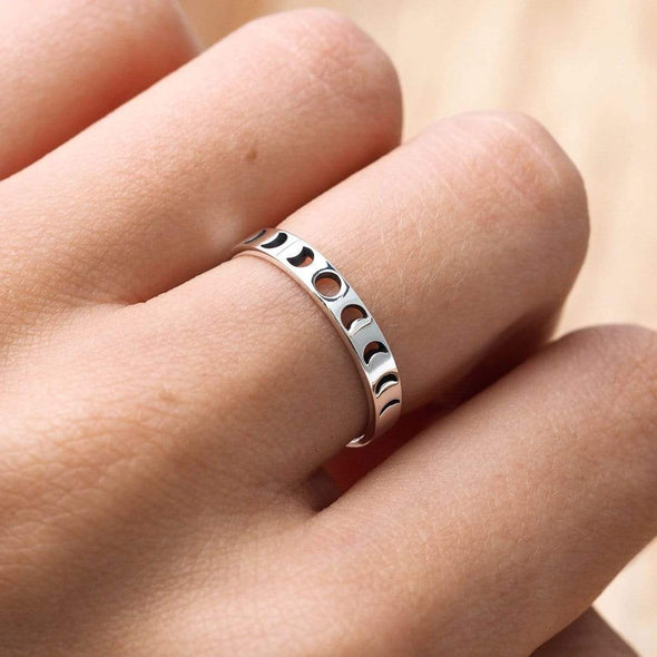 All The Phases Ring - Sterling Silver