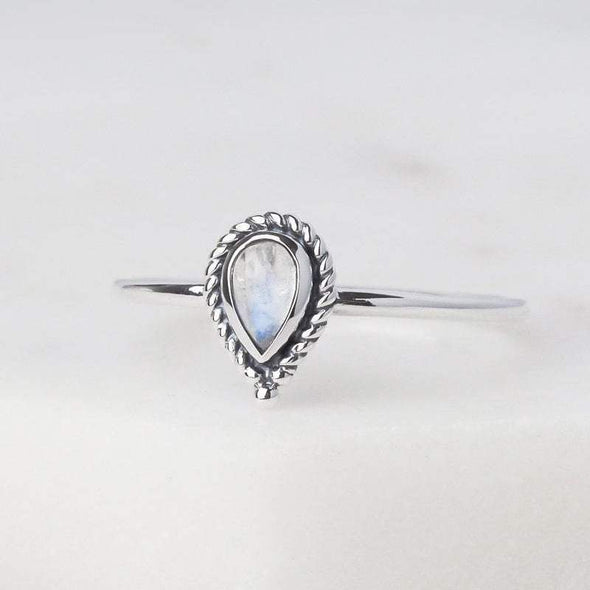 Luria Rainbow Moonstone Ring - Sterling Silver
