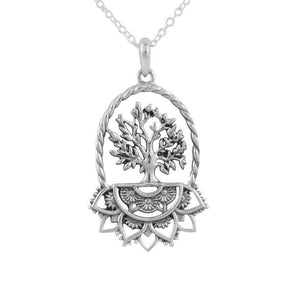 Natures Mandala Necklace - Sterling Silver