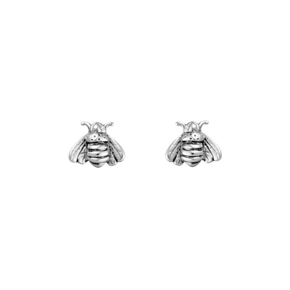 Pollination Bee Studs - Sterling Silver