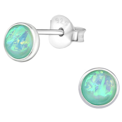 Green Lila Earrings - Sterling Silver