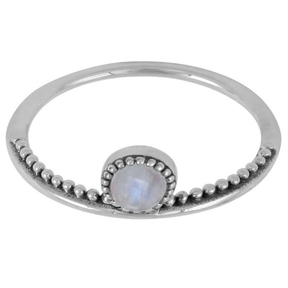 Rainbow Moonstone 'Parallel Worlds' Ring - Sterling Silver