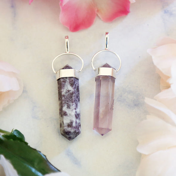 Lepidolite and Amethyst - Pendant Gift Set #3
