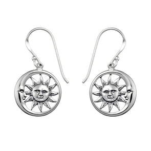 Solem and Lunam Earrings - Sterling Silver