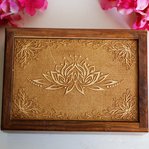 Lotus Wooden Box *
