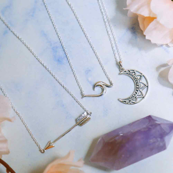 Flying True Arrow Necklace - Sterling Silver