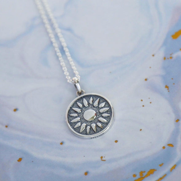Moonlit Oceans Necklace - Sterling Silver