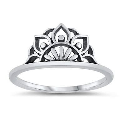 Mandala Ring - Sterling Silver