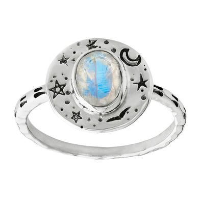 Alchemy Moonstone Ring - Sterling Silver