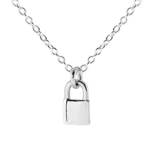 Lock Me Up Necklace - Sterling Silver