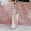 Angel aura quartz necklace sterling silver gemstone crystals