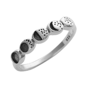 Moon Phases Ring -  Sterling Silver
