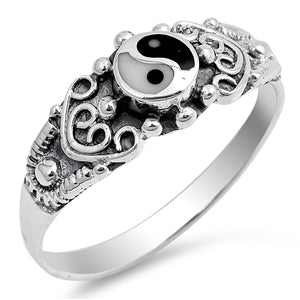 Yin & Yang Ring - Sterling Silver