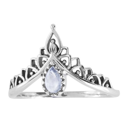 Existence Rainbow Moonstone Ring - Sterling Silver