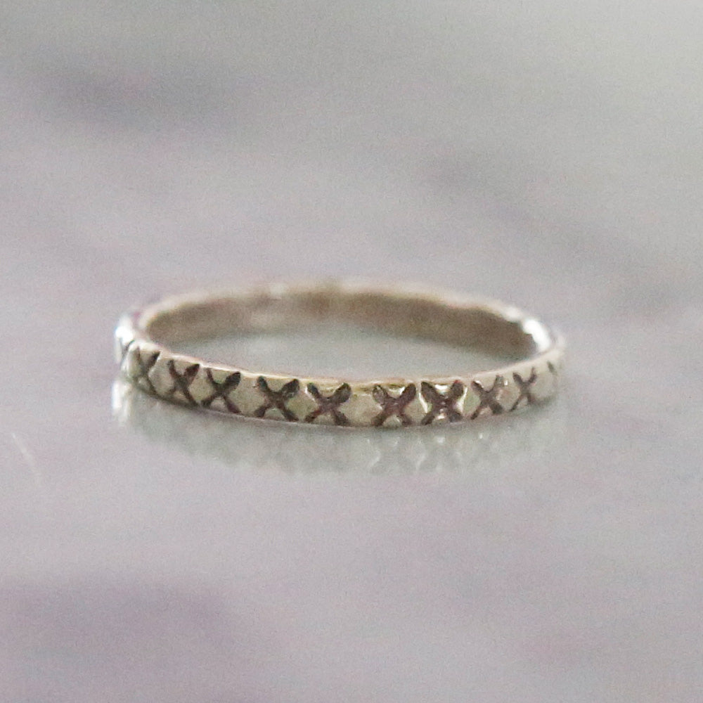 X Midi Ring * - Sterling Silver