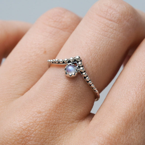 Dainty Spheroids Ring - Sterling Silver