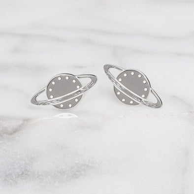 Rings of Saturn Studs - Sterling Silver