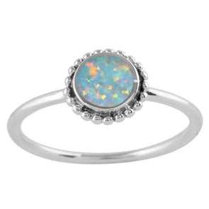 Opal Sun Ring - Sterling Silver