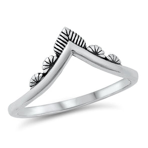V Stacking Ring - Sterling Silver
