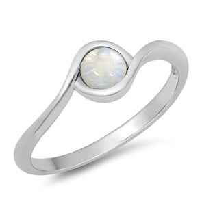 Moonstone Ring - Sterling Silver