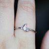Moon Ring - Sterling Silver
