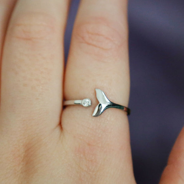 Whale Tail Ring - Sterling Silver