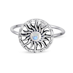 Apollo Moonstone Ring - Sterling Silver