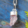 Rose Quartz Cluster Necklace - Piece #3 (Sterling Silver Pendant)