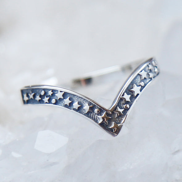 Wish Upon a Star Ring - Sterling Silver
