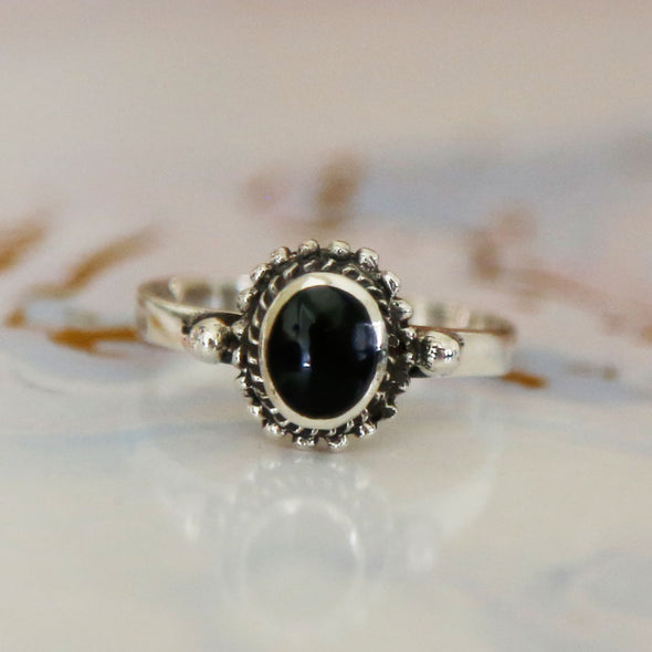 Black Onyx Ring - Sterling Silver
